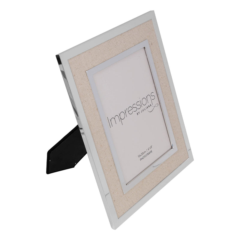 "6"" x 8"" IMPRESSIONS® Silver Finish Frame with Canvas Border"