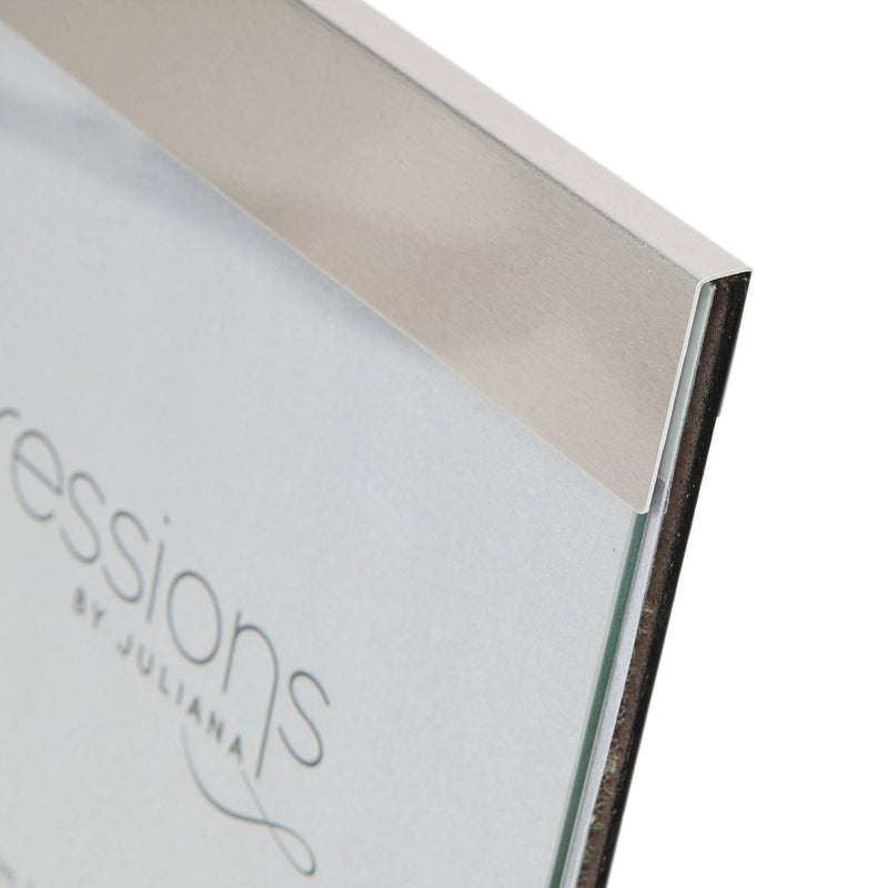 "6"" x 4"" - IMPRESSIONS® Brushed Silver Slide Photo Frame"