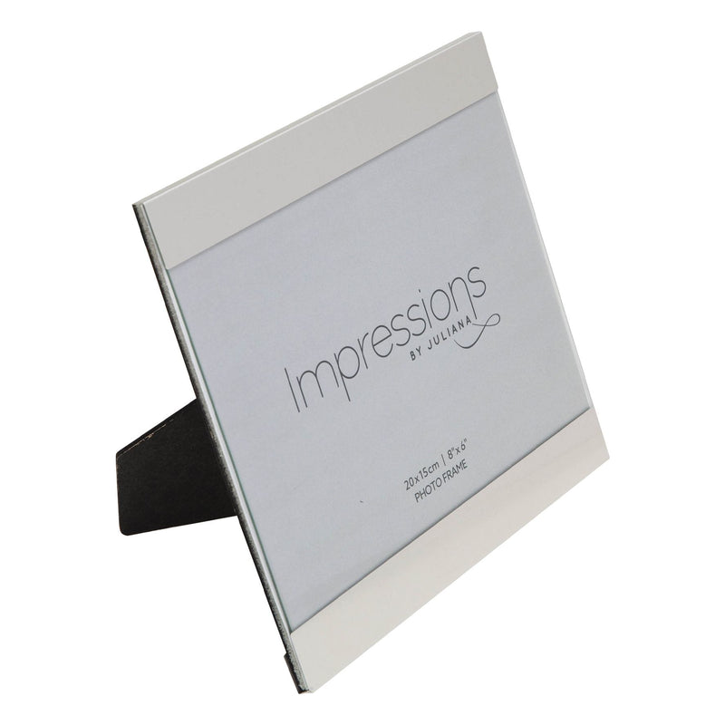 "8"" x 6"" - IMPRESSIONS® Brushed Silver Slide Photo Frame"