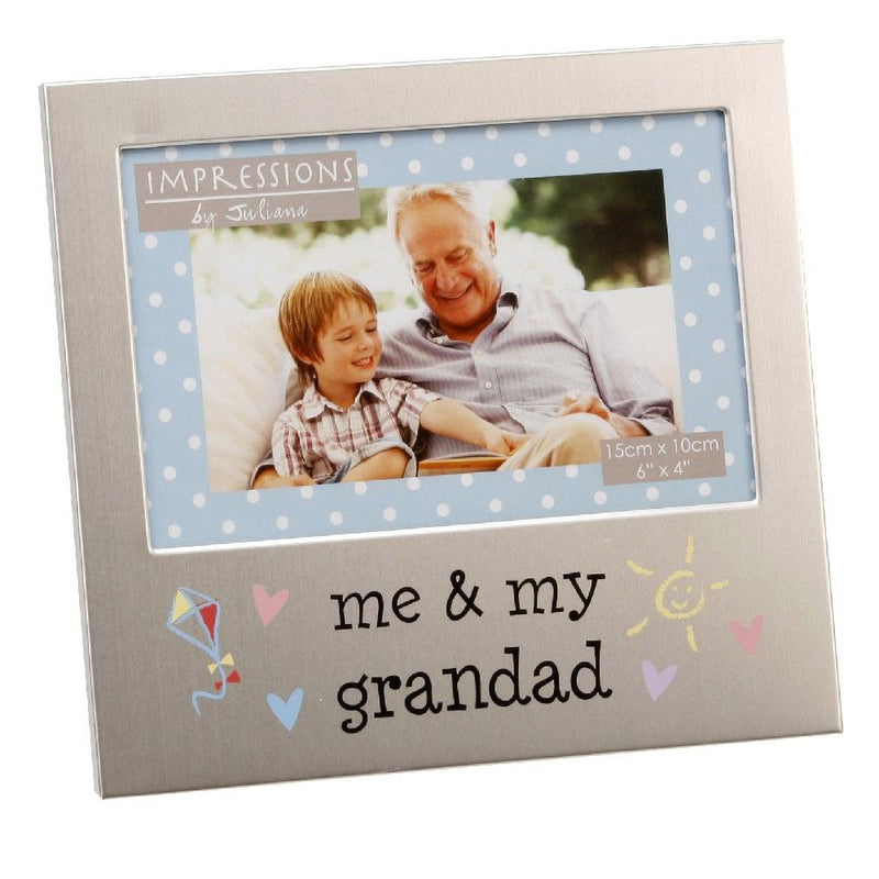 "6"" x 4"" - Aluminium Me & My Grandad Photo Frame"