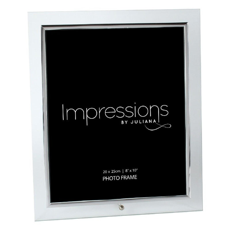 "8"" x 10"" - Glass Photo Frame Silver Colour Insert"