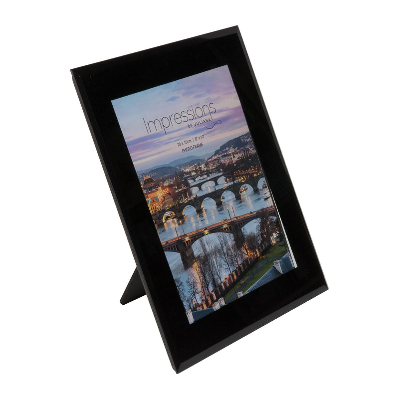 "8"" x 10"" - Impressions Plain Black Glass Photo Frame"