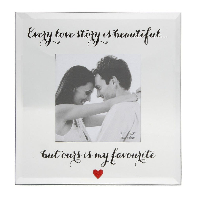 "4"" x 4"" - True Valentine Mirror Frame - Every Love Story"