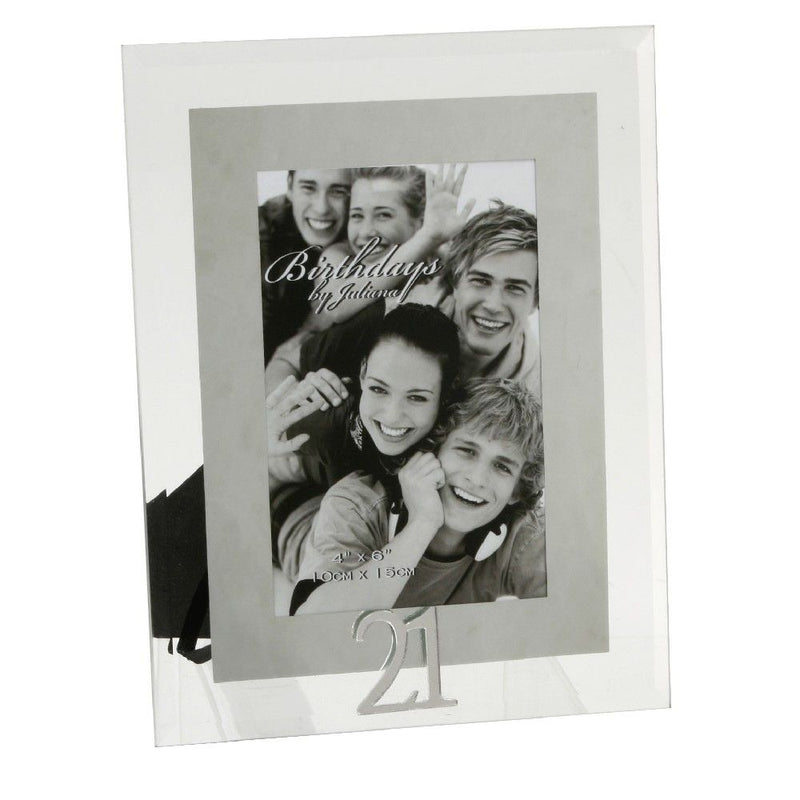 "4"" x 6"" - Birthdays by Juliana Photo Frame - 21st"