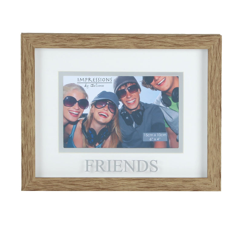 "6"" x 4"" - Natural Wood Effect Frame - Friends"