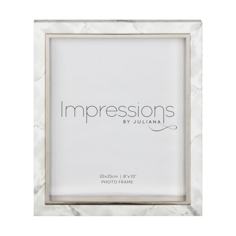 "8"" x 10"" - Impressions White Marble Look Frame"