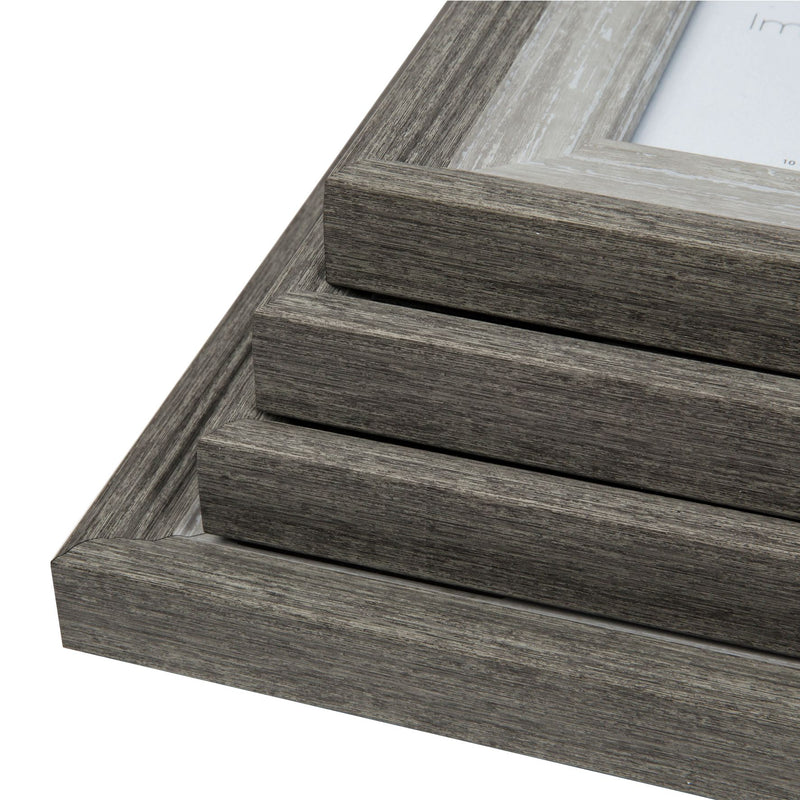 "6"" x 8"" - Impressions Grey Wash Wood Effect Photo Frame"