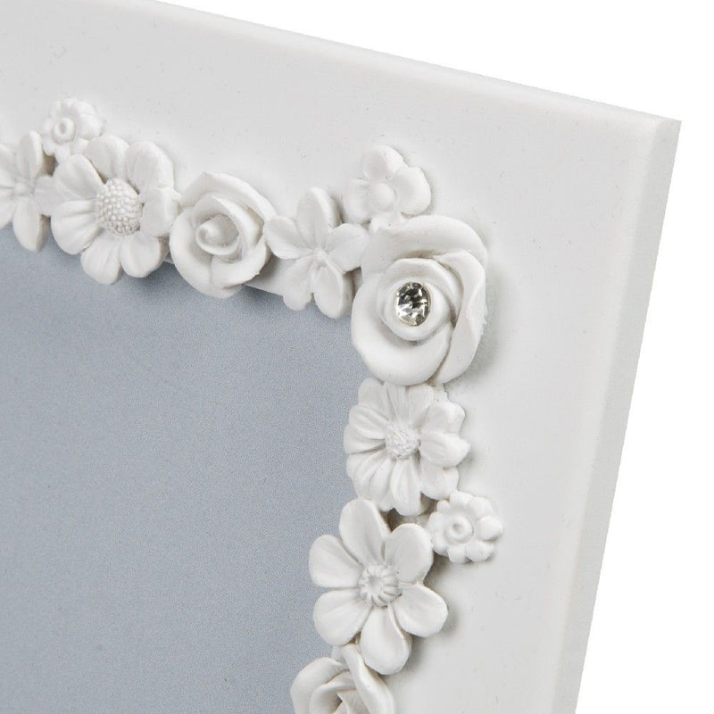 "4"" x 6"" - Impressions Little White Flower Resin Photo Frame"