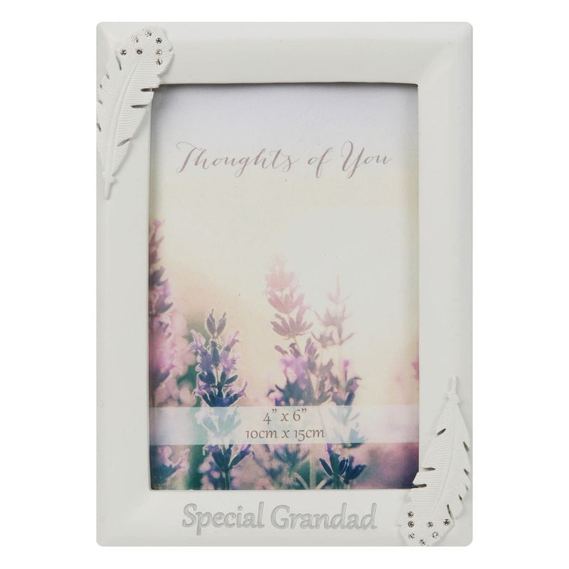 "4"" x 6"" - Thoughts of You Frame with Crystals - Grandad"