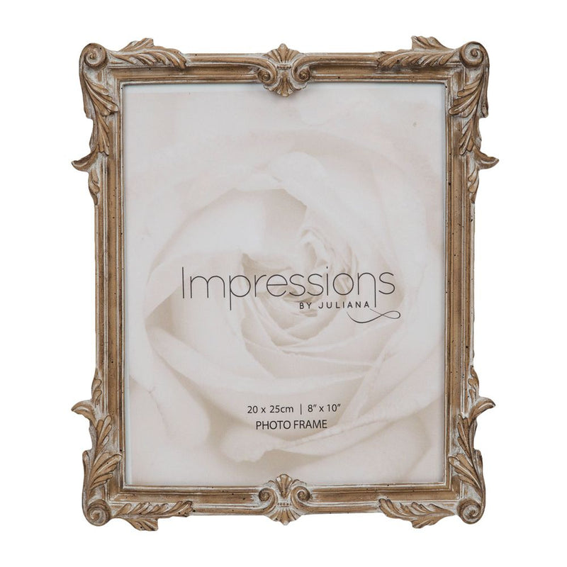 "8"" x 10"" - Impressions Antique Carved Wood Finish Frame"