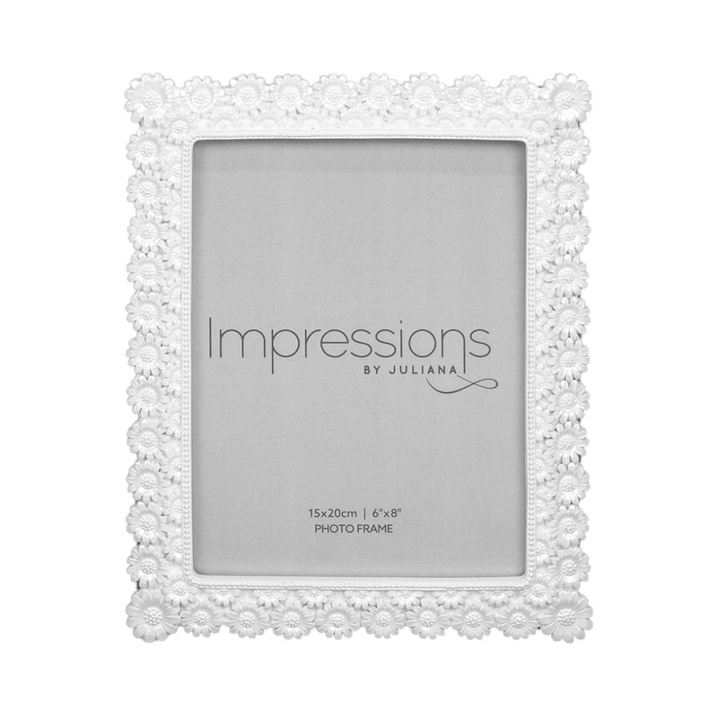 "6"" x 8"" - IMPRESSIONS® Pearlised Resin Daisy Photo Frame"