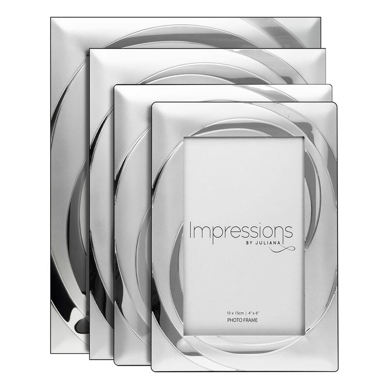 "4"" x 6"" - Impressions Silver Plated Photo Frame with Swirl"