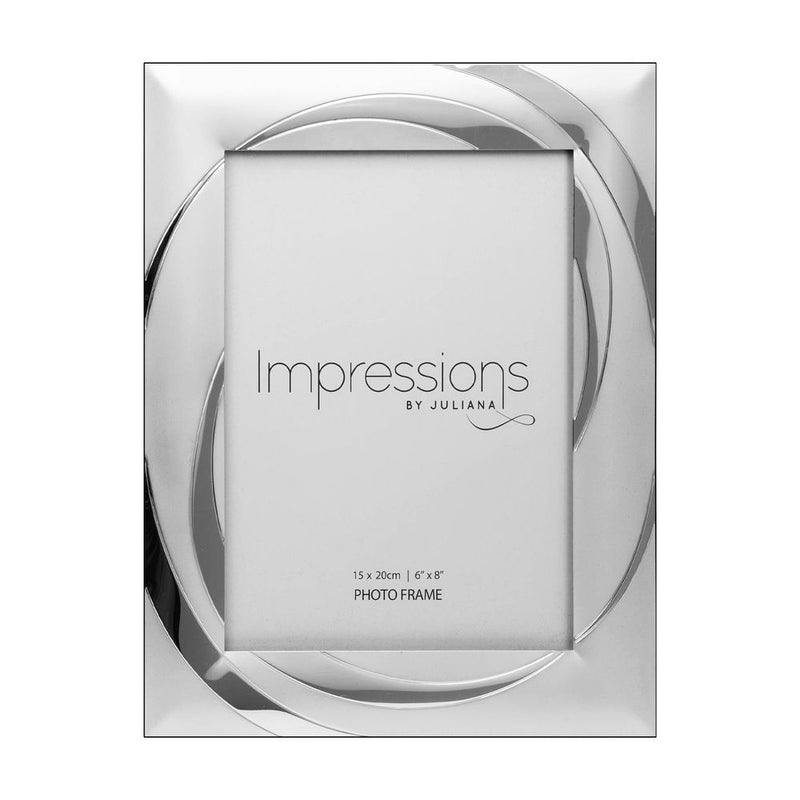 "6"" x 8"" - Impressions Silver Plated Photo Frame with Swirl"