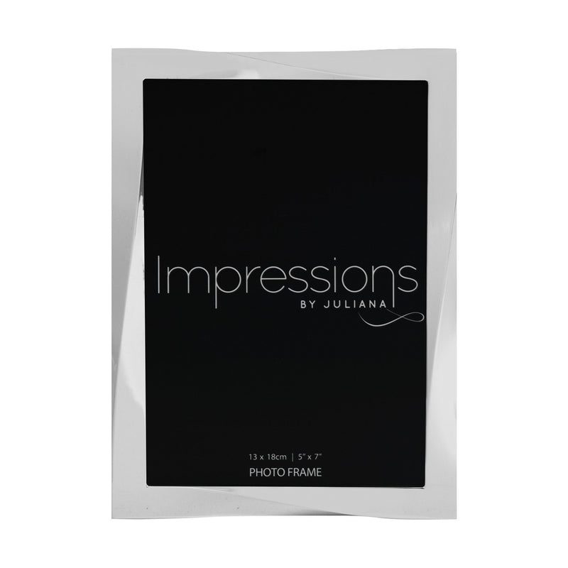 "5"" x 7"" - Impressions Silver Plated Twisted Photo Frame"