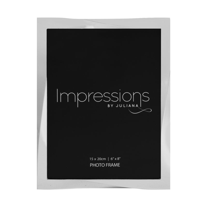 "6"" x 8"" - Impressions Silver Plated Twisted Photo Frame"