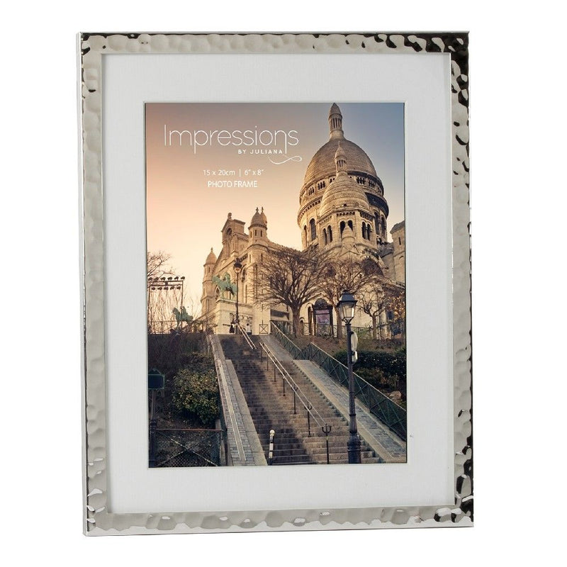 "6"" x 8"" - Impressions Hammered Silver Plated Frame"