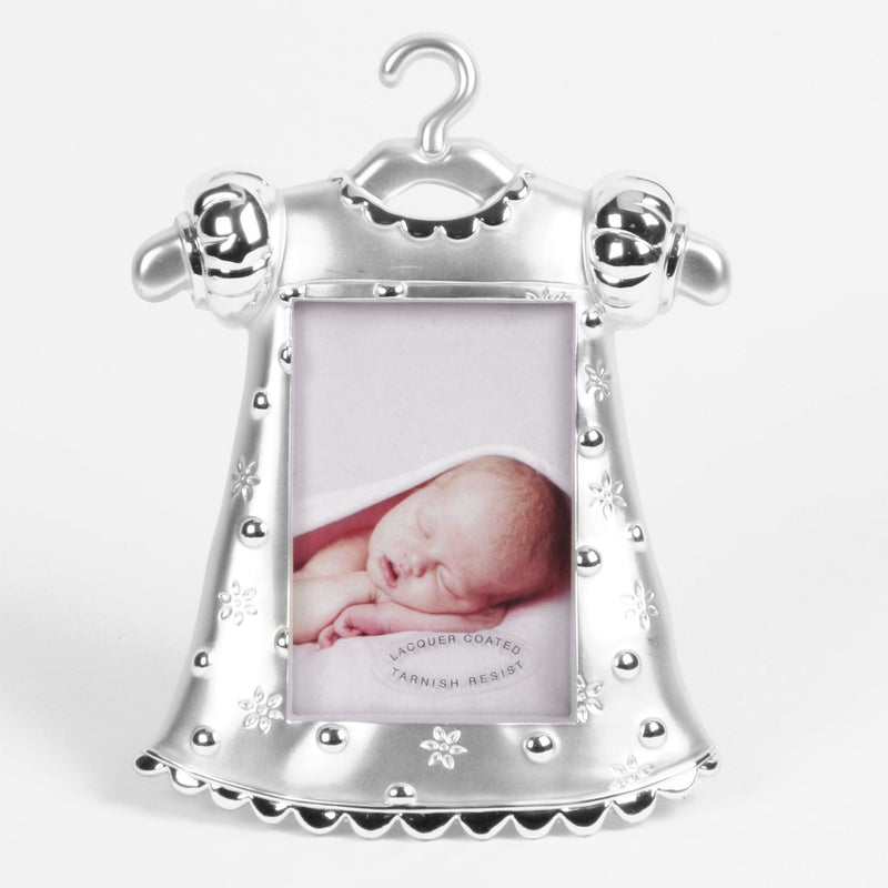 "2"" x 3"" - Silver Plated Girl Dress Photo Frame"