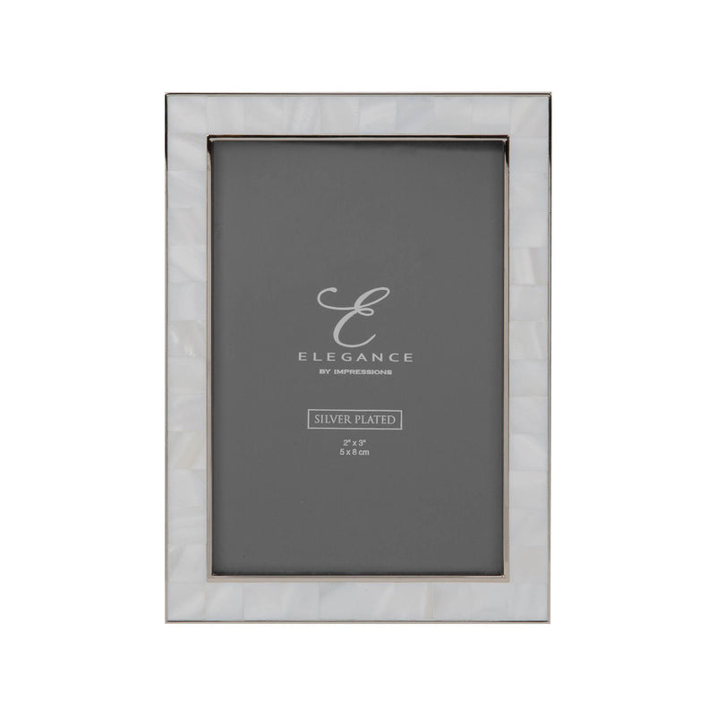 "4"" x 6"" - Elegance Nickel & Mother of Pearl Frame - Gift Box"