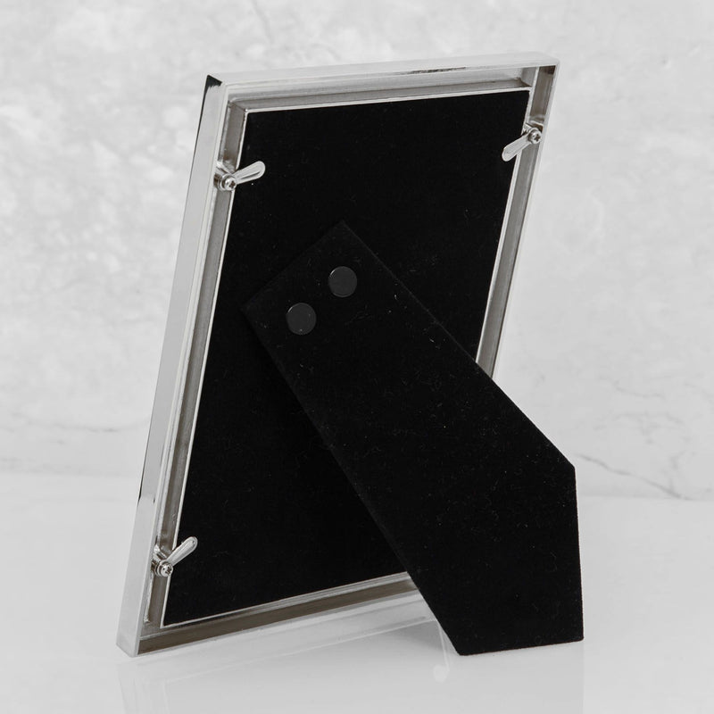 "6"" x 8""- Elegance Nickel & Mother of Pearl Frame - Gift Box"