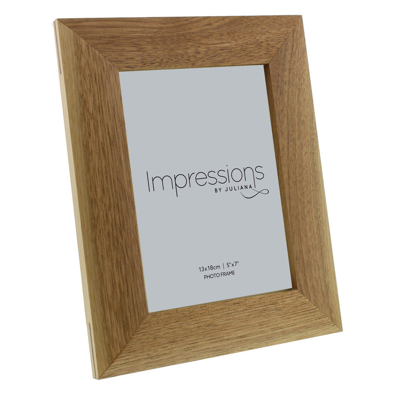 "5"" x 7"" - Impressions Oak Effect Photo Frame"