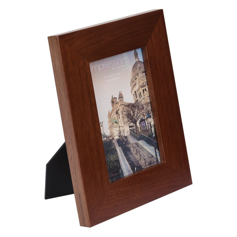 "4"" x 6"" - Impressions Flat Edge Rosewood Finish Photo Frame"