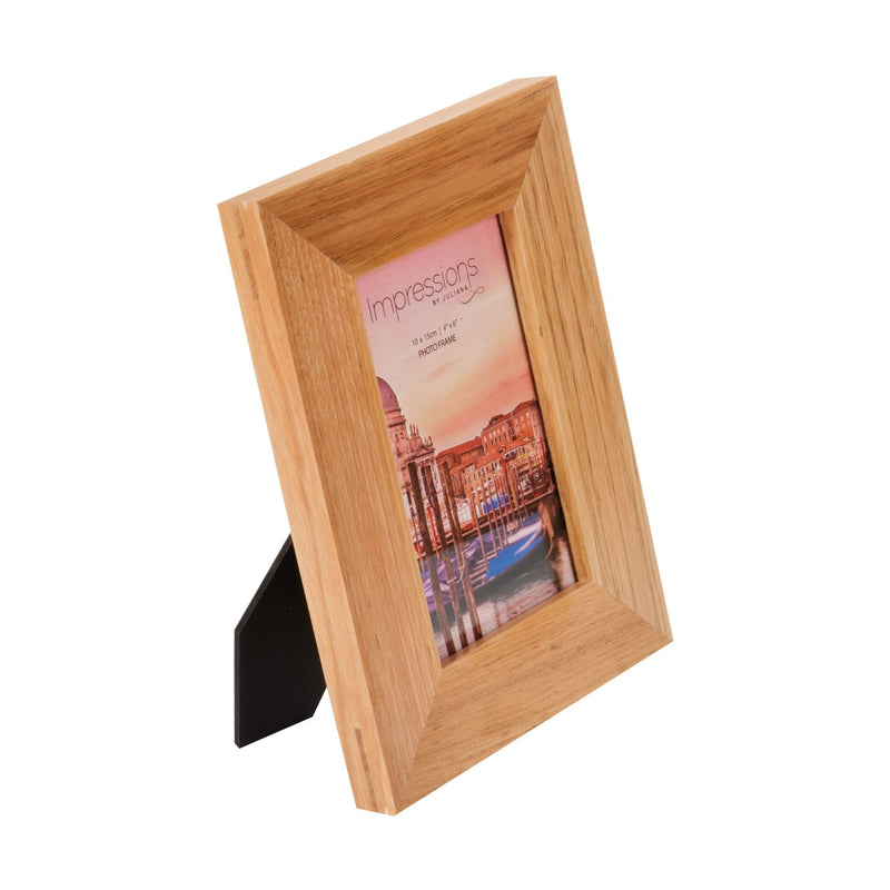 "4"" x 6"" - Wooden Photo Frame - Flat Edge Oak Finish"