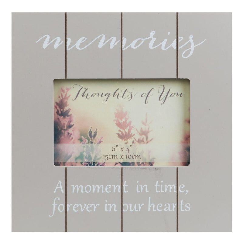 "6"" x 4"" - Thoughts of You Thick Wood Effect Frame - Memories"
