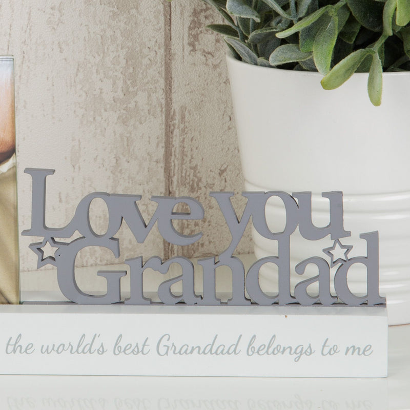 "4"" x 4"" - Celebrations Photo Frame - Love You Grandad"