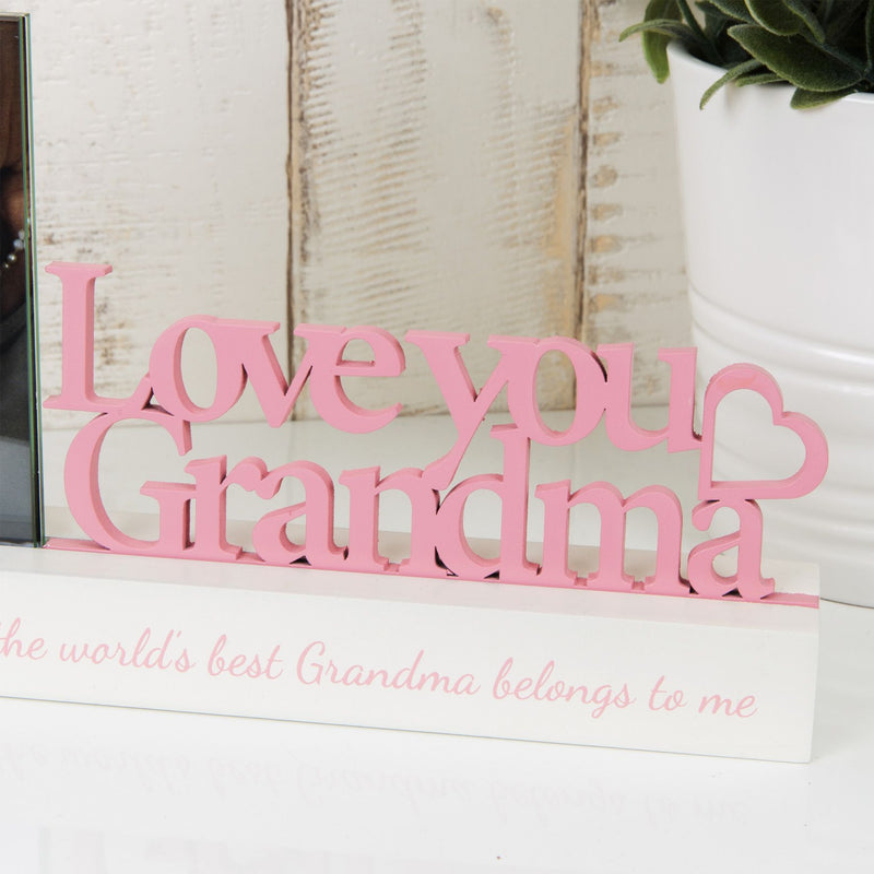"4"" x 4"" - Celebrations Photo Frame - Love You Grandma"