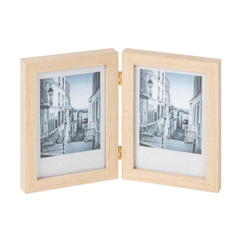 "4"" x 6"" - Impressions Double Aperture Wooden Photo Frame"