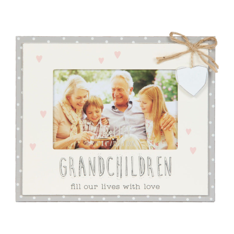 "6"" x 4"" - Love Life Bunting Photo Frame - Grandchildren"