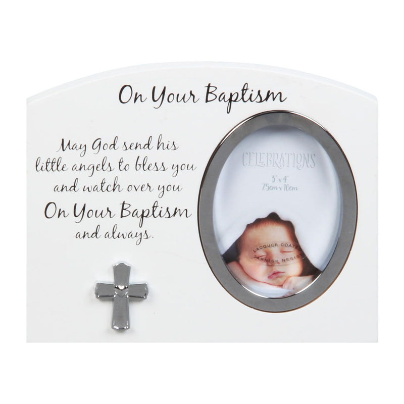 "3"" x 4"" - Celebrations On Your Baptism Photo Frame"