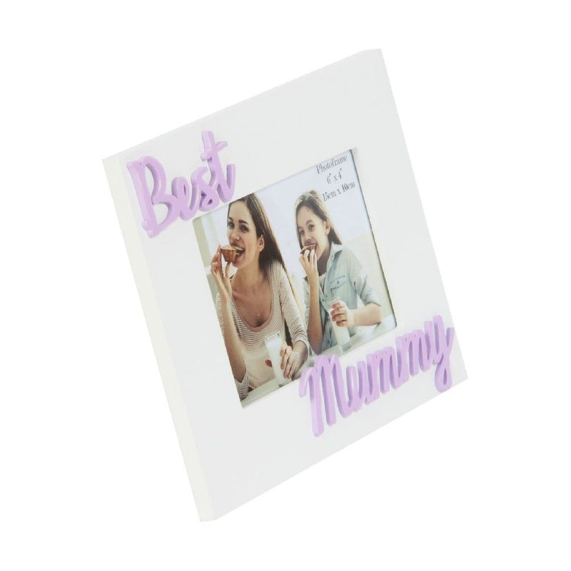"6"" x 4"" - Photo Frame 3D Letters - Best Mummy"