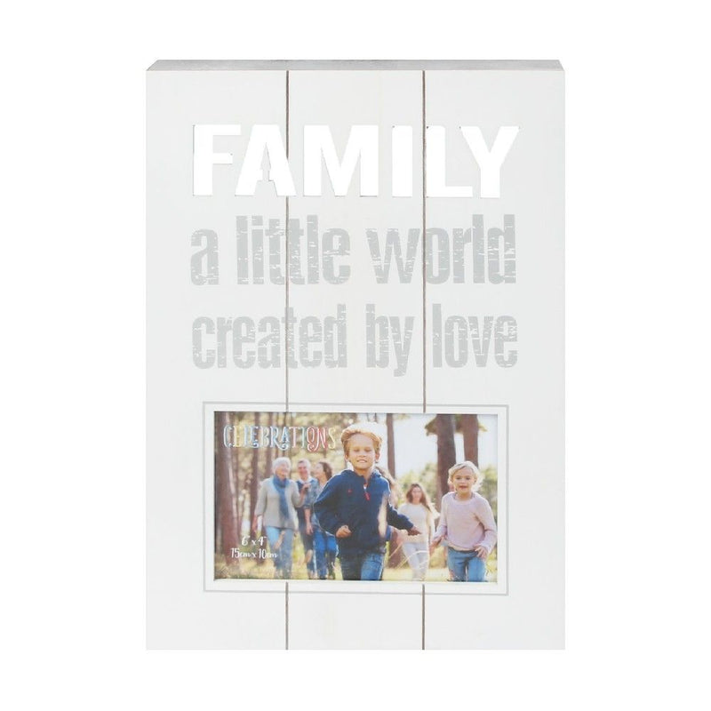 "6"" x 4"" - Celebrations Panel Photo Frame - Family"