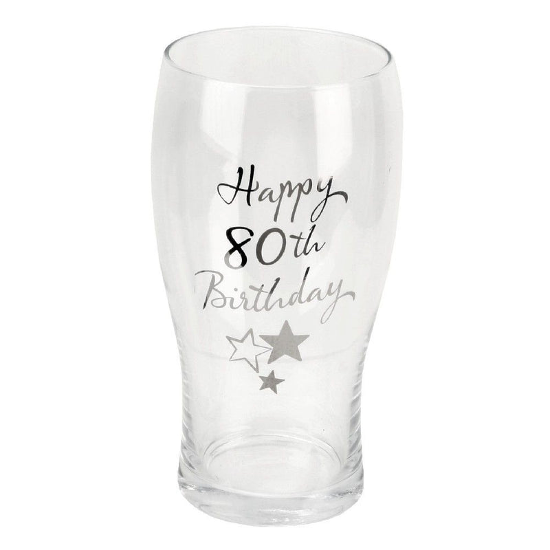 Birthdays by Juliana Beer Glass - 80th Birthday