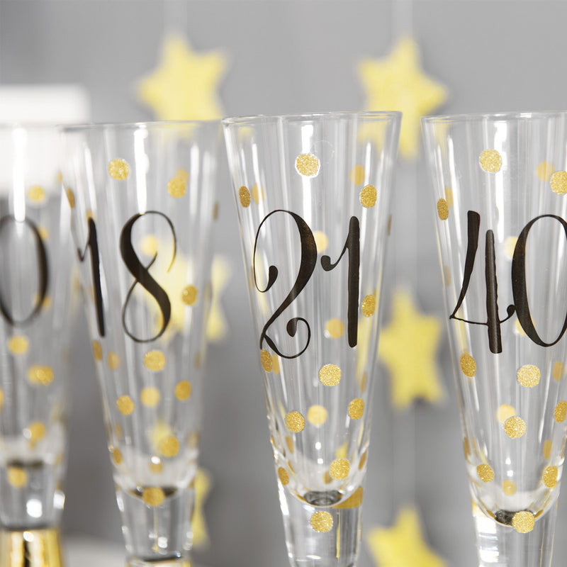 Signography Prosecco Glass with Metallic Gold - 30