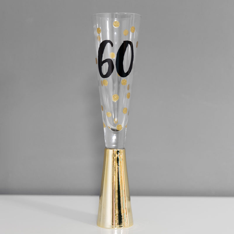 Signography Prosecco Glass with Metallic Gold - 60