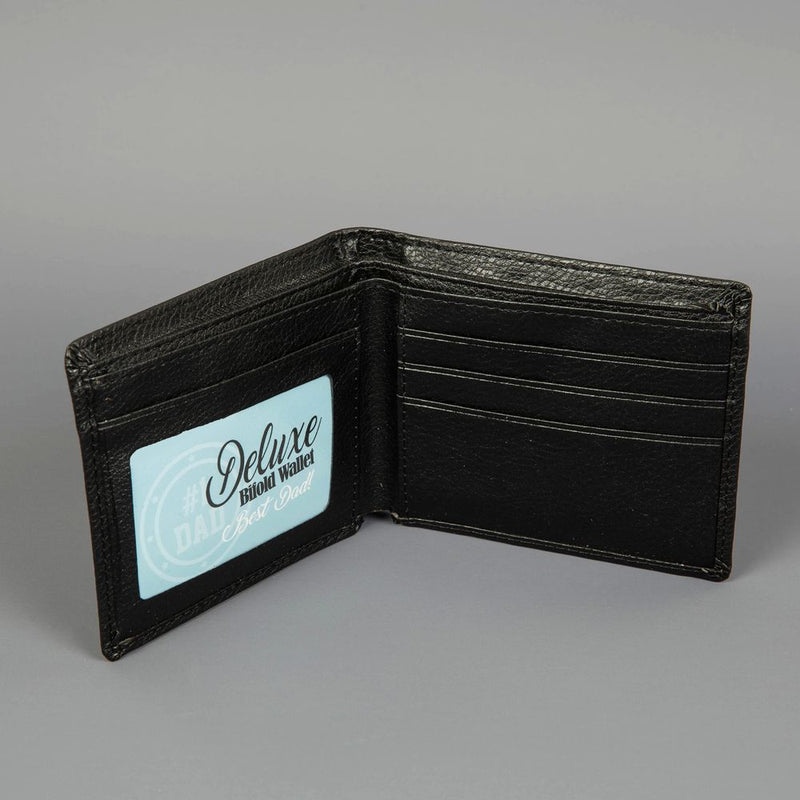 #1 Dad Embossed Faux Leather Wallet