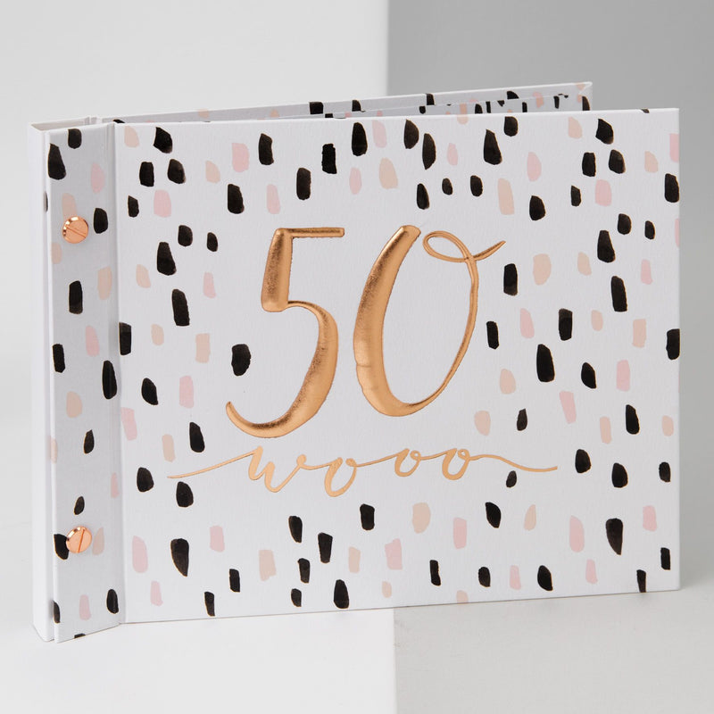 Luxe Birthday Photo Album & Guest Book - 50