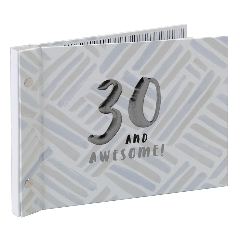 Luxe Male Birthday Photo Album & Guest Book - 30