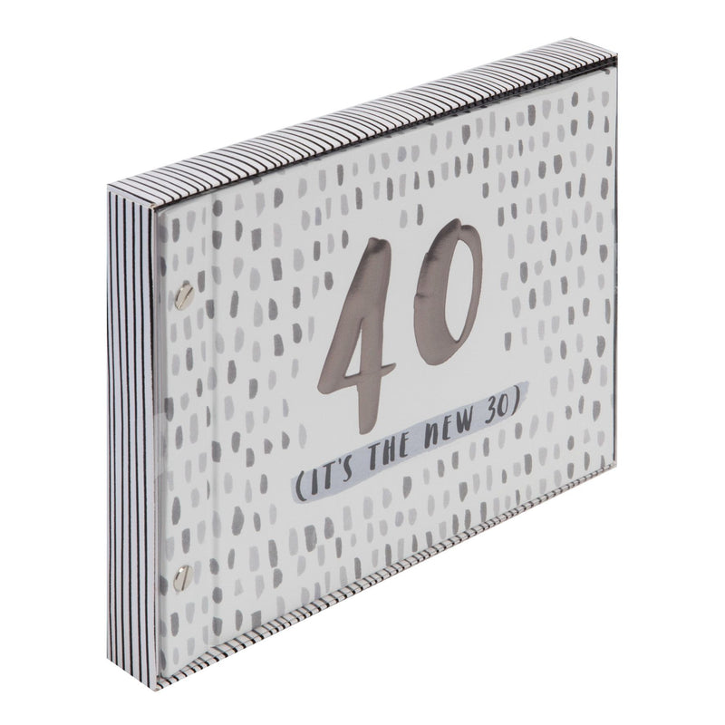 Luxe Male Birthday Photo Album & Guest Book - 40