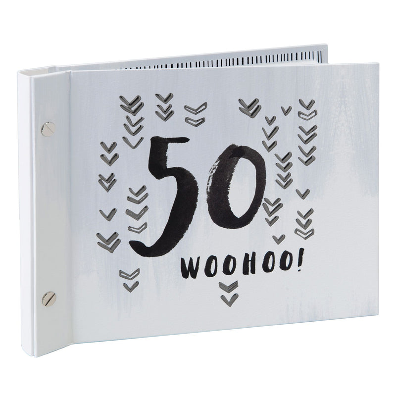 Luxe Male Birthday Photo Album & Guest Book - 50