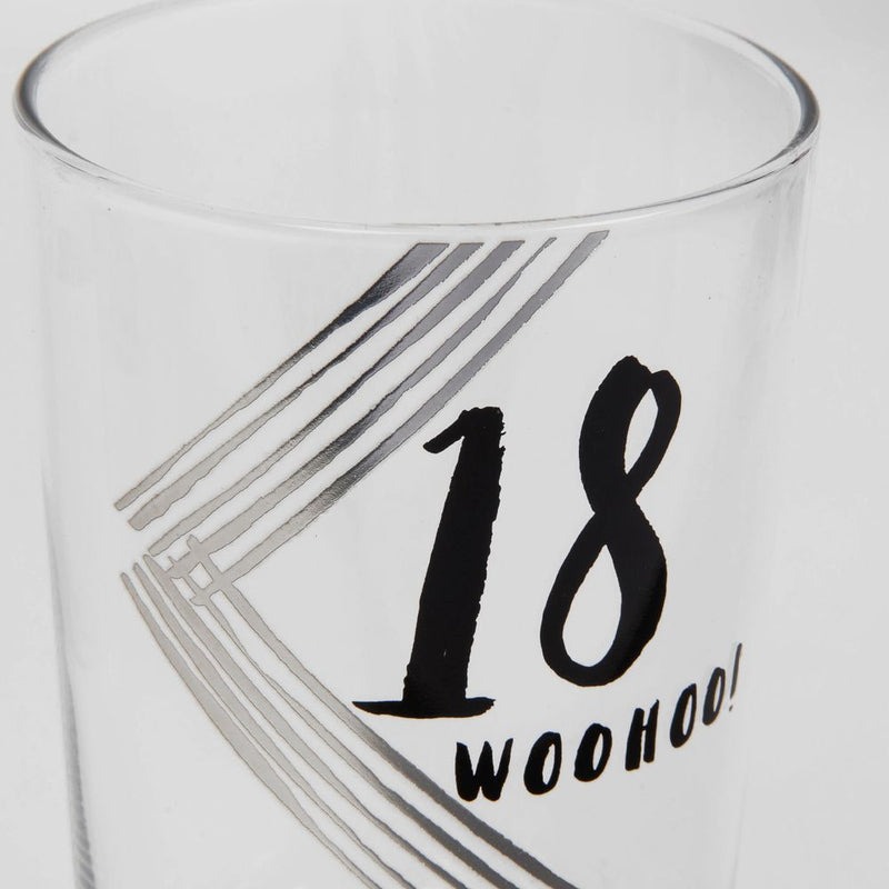 Luxe Gunmetal Beer Glass - 18th Birthday
