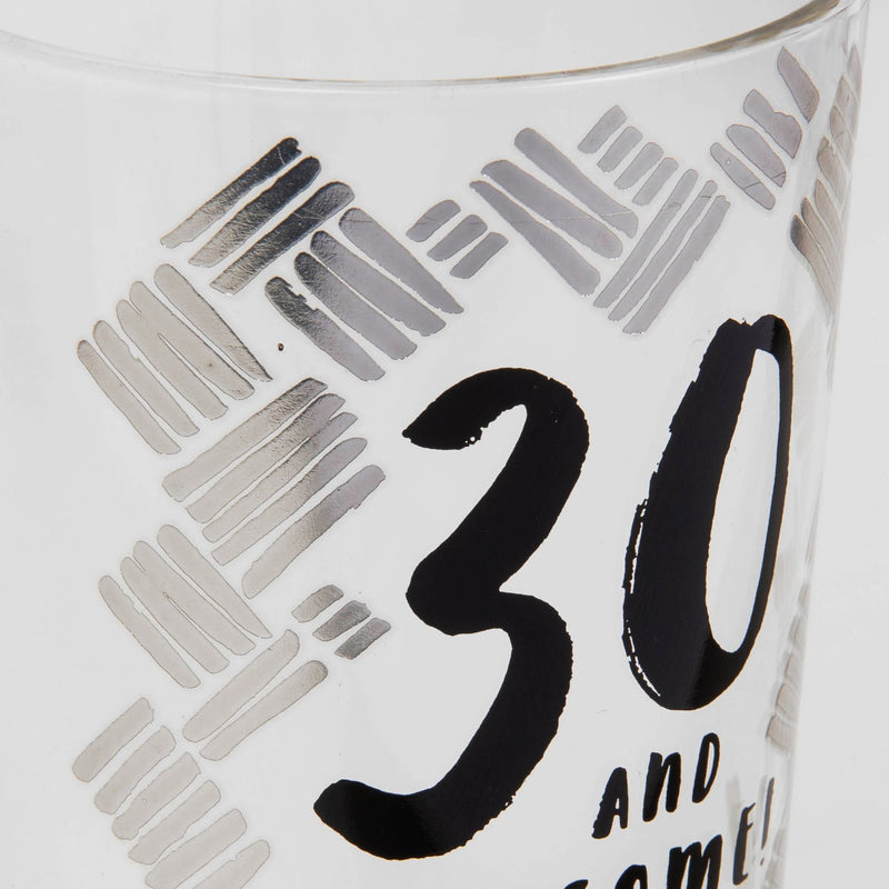 Luxe Gunmetal Beer Glass - 30th Birthday