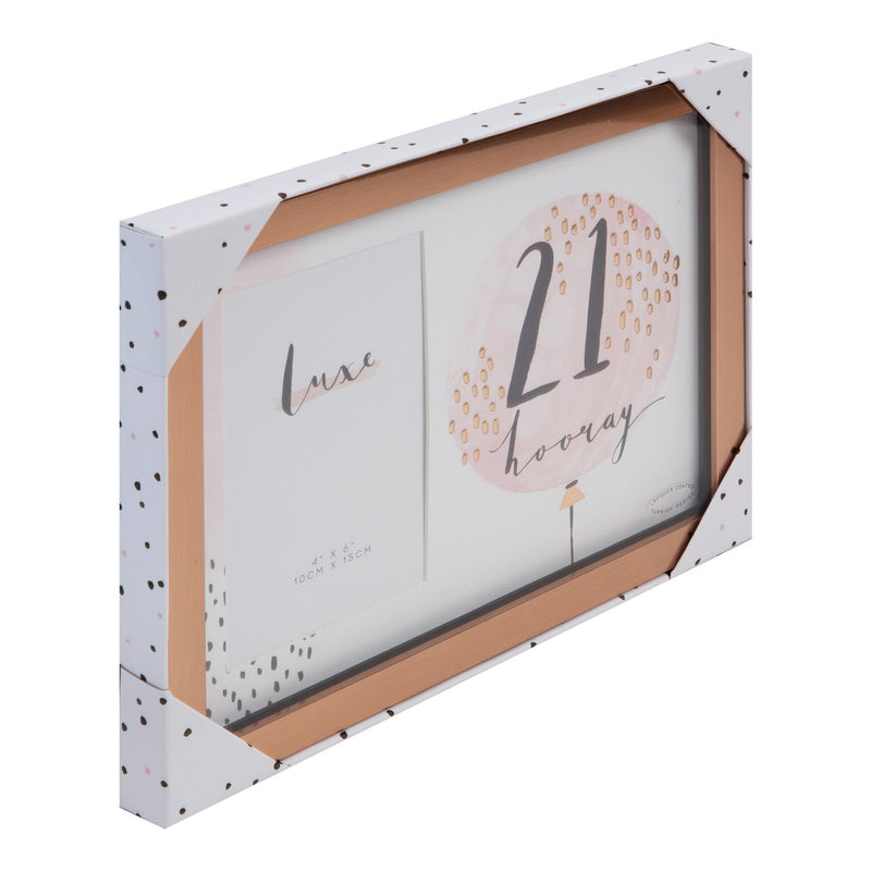 "4"" x 6"" - Luxe Rose Gold Birthday Frame - 21"
