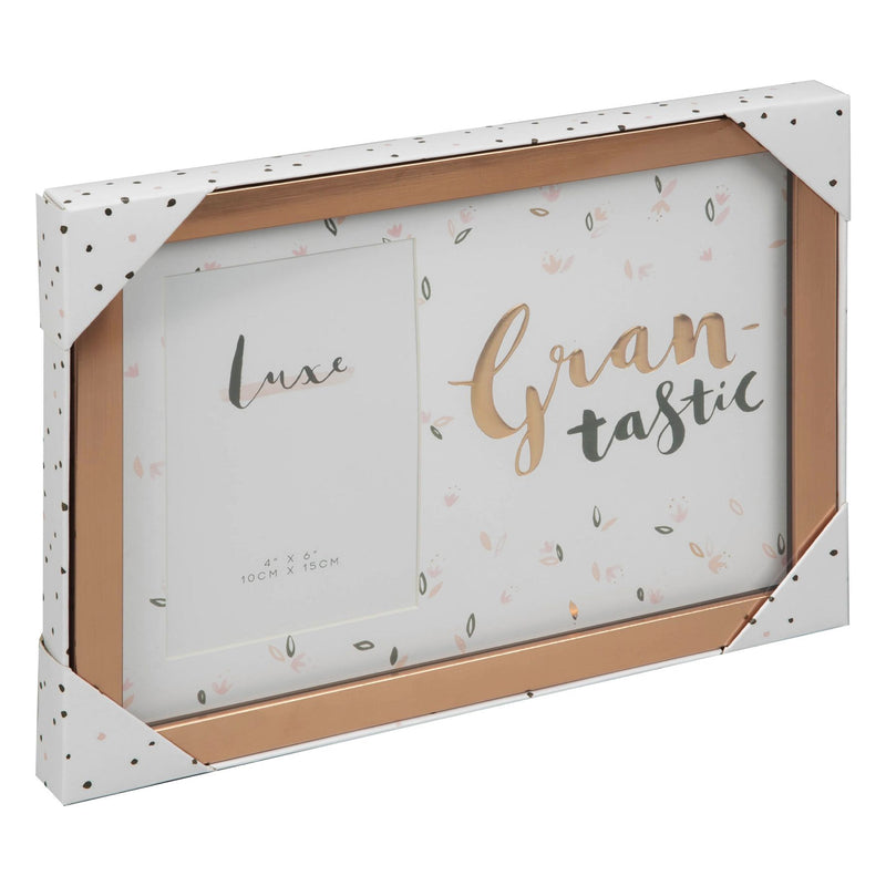 "Luxe Rose Gold Birthday Frame 4"" x 6"" - Grantastic"