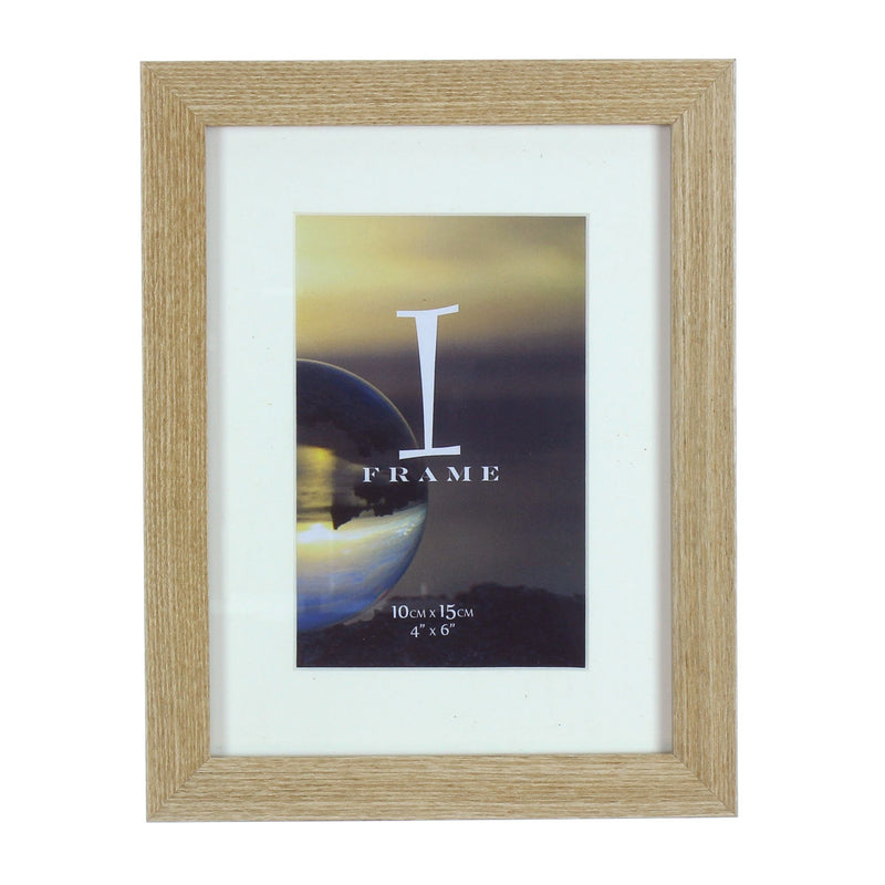 "4"" x 6"" - iFrame Light Oak Wood Finish Frame with Mount"