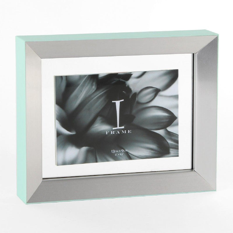 "5"" x 3"" - iFrame Aluminium Photo Frame - Duck Egg Green"