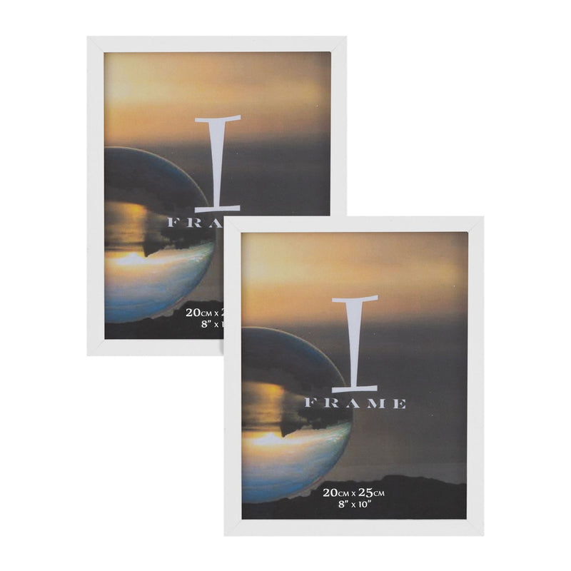 "8"" x 10"" - iFrame Set of 2 Photo Frames White"