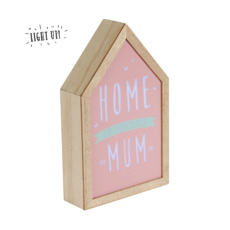 Love Life Home Is Where Mum Is Light Up Box